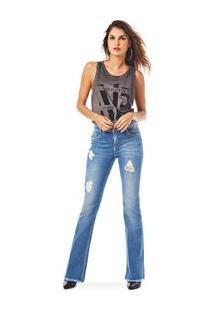 8b6d83fa8 ... Calca Boot Cut Carol Cos Intermediario Clara Jeans