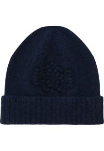 Barrie Knitted Beanie Hat - Azul