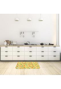 Tapete De Cozinha Mdecore Utensílios Amarelo 40X60Cm
