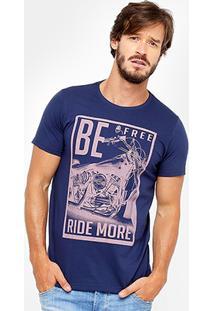 Camiseta Yellowl Estampa Be Free Masculina - Masculino