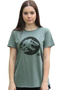 T-Shirt Bandup Jurassic World Dino - Feminino-Verde
