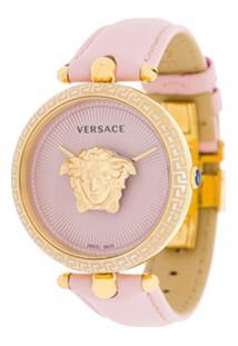 f4edf98b541 Farfetch. Relógio Aço Inox Vidro Couro Feminino Giani Versace Rosa Empire   -  Palazzo