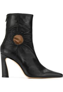 Kalda Ankle Boot Forywindow Com Recortes - Preto