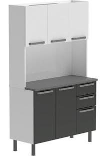 Cozinha Compacta Verona Ii 5 Pt 3 Gv Cinza