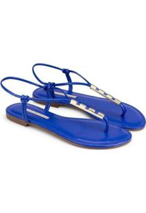 Rasteira Napa Soft 2020 Sapatinho De Luxo Feminina - Feminino-Azul