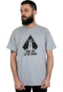 Camiseta Bleed American To The Moon Cinza Mescla
