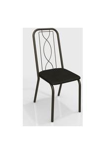 Cadeira Viena Bronze/Preto De Metal (Par) Kappesberg