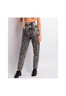 Calça Jeans Slouchy Feminina Lavagem Black Jeans Black