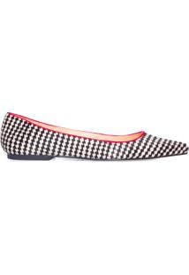 Sapato Feminino Pelo Xadrez Salermo - Preto