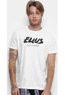 Camiseta Ellus Cotton Fine Ellus All We Are Classic Masculina - Masculino-Branco