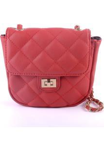 Bolsa Pequena Matelassê Pop Me Vermelho
