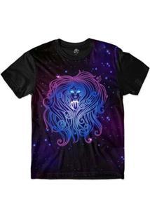 Camiseta Bsc Signos Ilustração Virgem Sublimada Masculina - Masculino-Roxo