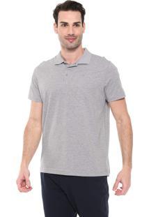 Camisa Polo Colombo Reta Logo Cinza