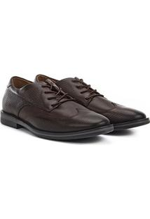 Sapato Social West Coast Dallas Amarração Masculino - Masculino-Marrom