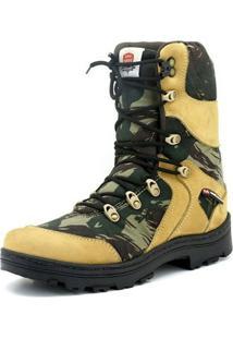 Coturno Atron Shoes Militar Camuflado - Masculino-Verde Militar