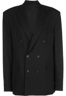 Wardrobe.Nyc Blazer Oversized Com Abotoamento Duplo - Preto