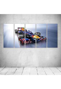 Quadro Decorativo - Formula 1 Red Bull Rb8 Race Car - Composto De 5 Quadros