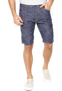 Bermuda Jeans Hering Folhagem Azul
