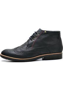 Sapato Oxford Reta Oposta Em Couro 31 Preto