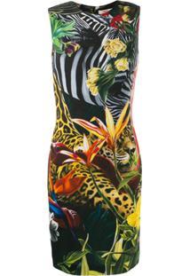 Roberto Cavalli Vestido Slim 'Paradise Found' - Amarelo