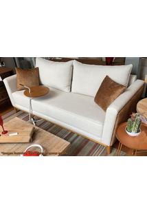 Sofa Colina Cru Com Caramelo E Base Mel 2,15 Mt (Larg) - 50649 - Sun House