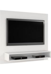 Painel Tv Até 47 Polegadas Níquel Com Suporte Tv Grátis Jcm Movelaria -Branco Brilho