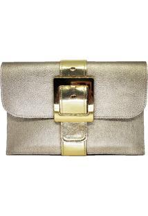 Clutch Dona Constance Envelope Dourada