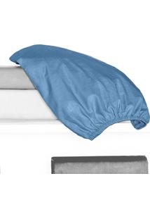 Porta Travesseiro 150 Fios Juma 01 Peça - Azul Mar