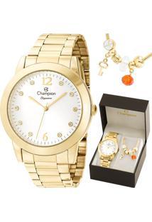 Kit Relógio Champion Feminino Com Pulseira Cn26788S