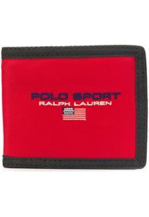 Polo Ralph Lauren Carteira Com Logo Bordado - Vermelho