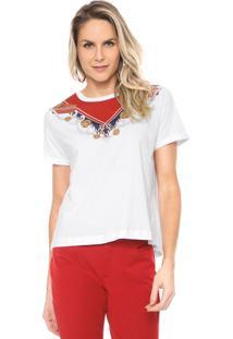 Camiseta Lança Perfume Estampada Branca/Vermelha