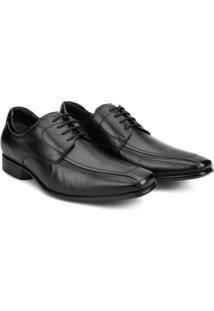 Sapato Social Couro Democrata Clide - Masculino-Preto