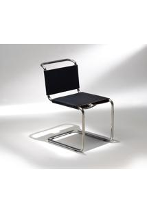 Cadeira Spoleto Couro Bege