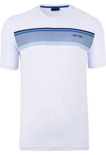 Camiseta Gola Careca Print White