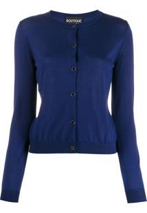Boutique Moschino Cardigan Com Botões - Azul