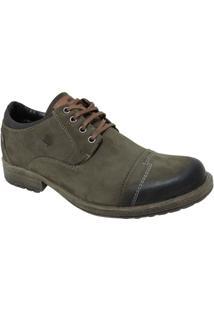 Sapato Couro Westflex Bico Redondo Nobuck - Masculino