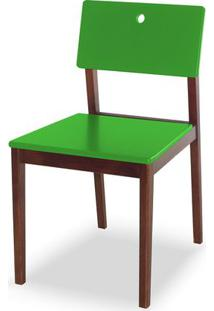 Cadeira Flip Cor Cacau Com Verde - 30834 - Sun House