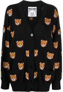 Moschino Cardigan De Tricô Teddy Bear - Preto