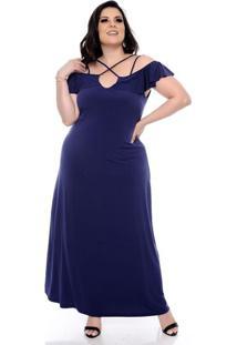 aa287cb4e0 Vestido Azul Tamanho Grande feminino
