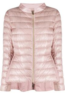 Herno Funnel-Neck Quilted-Down Jacket - Rosa