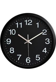 Relógio De Parede 30Cm Preto