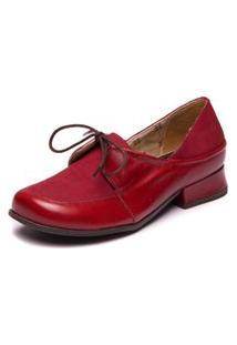 Sapato Retrô Boneca Vermelho - Amora/ Marsala 7727