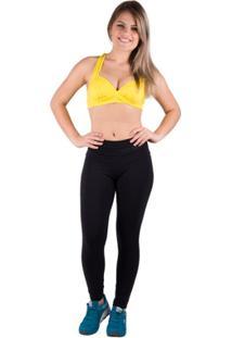 Sutiã Suplex Liso Com Bojo - Salto Triplo - Feminino-Amarelo
