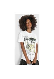Camiseta Colcci Amplified Heart Branca/Verde