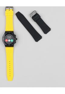 Relógio Seculus Smart Visor Touch Masculino Troca Pulseira - 79000Gpsvpv1 Preto - Único