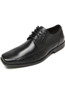 Sapato Social Couro Ferracini Recortes Preto