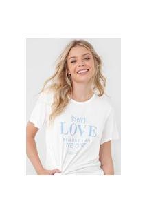 Camiseta Colcci Self Love Off-White