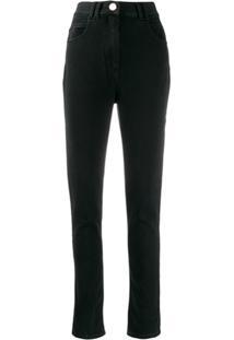 Balmain Calça Jeans Skinny Cintura Alta - Preto