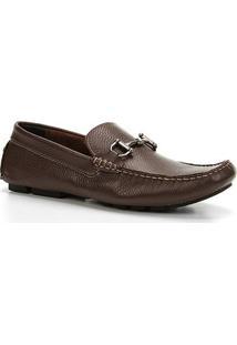 Mocassim Couro Shoestock Drive Masculino