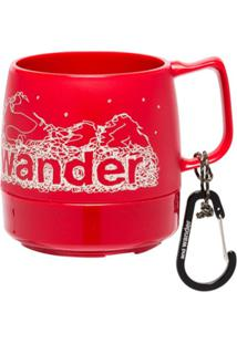 And Wander Caneca Com Logo Dinex - Vermelho